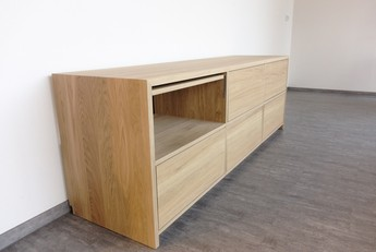 tv schrank eiche nue. Black Bedroom Furniture Sets. Home Design Ideas