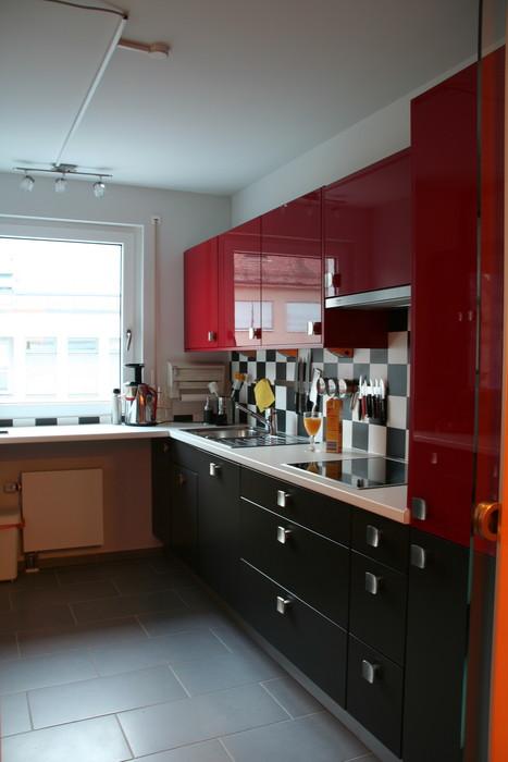 k che rot schwarz. Black Bedroom Furniture Sets. Home Design Ideas